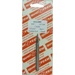 "DULSM2 1/4"" X 3/4"" SOLID BURS DOUBLE CUT. CONE (POINTED END) 1/4"" Shk"